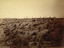 [Oilfields, probably at Yenangyaung, Burma.]